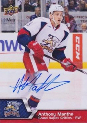 2016-17-NHL-Upper-Deck-Rookie-Card-Anthony-Mantha-Detroit-Red-Wings-AHL-Autograph