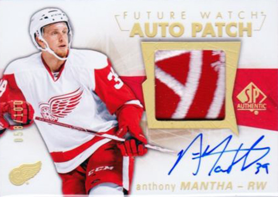 2016-17-NHL-Upper-Deck-Rookie-Card-Anthony-Mantha-Detroit-Red-Wings-SP-Authentic-Autograph-Patch