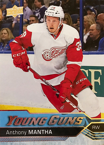 2016-17-NHL-Upper-Deck-Rookie-Card-Anthony-Mantha-Detroit-Red-Wings-Young-Guns