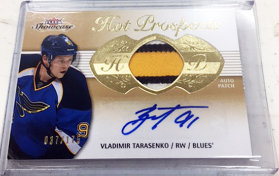 Upper-Deck-Fleer-Showcase-Autograph-Patch-Vladimir-Tarasenko