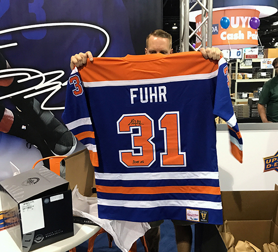 Upper-Deck-Authenticated-Monumental-Volume-1-Multi-Sport-National-Sports-Collectors-Convention-Grant-Fuhr-Autographed-Jersey