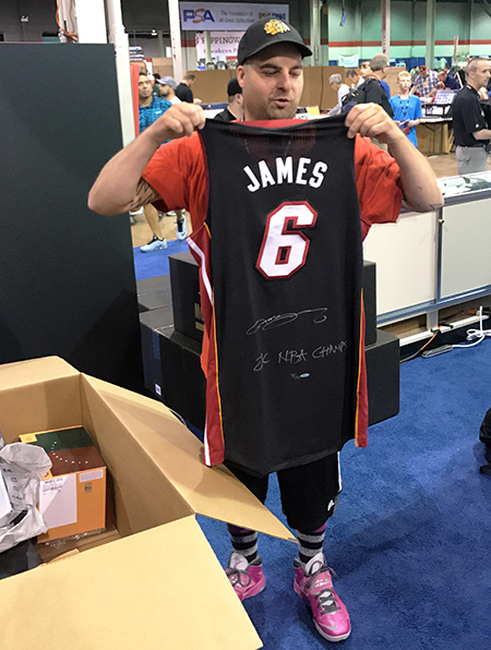 Upper-Deck-Authenticated-Monumental-Volume-1-Multi-Sport-National-Sports-Collectors-Convention-LeBron-James-Jersey