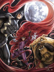 2017-Upper-Deck-September-Marvel-Inhumans-UDGallery-Fine-Art-Print-Variant