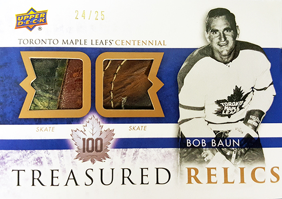 2017-Upper-Deck-Toronto-Maple-Leafs-Centennial-Set-Treasured-Relics-Bob-Baun