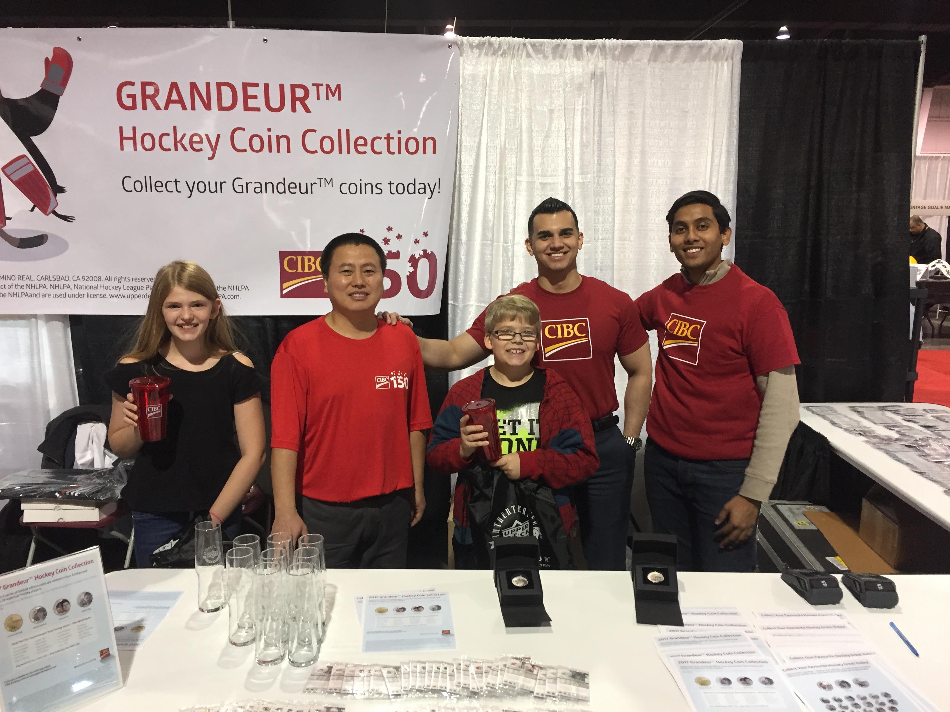 Grandeur-Upper-Deck-NHLPA-Hockey-Coins-CIBC-Booth-Expo-Customer-Appreciation