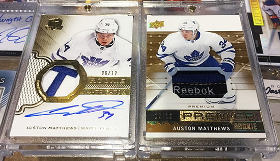 Upper-Deck-Sport-Card-Expo-Collector-Scores-Big-with-2016-17-Toronto-Leafs-Auston-Matthews-Rookie-Card-Autograph-Patches