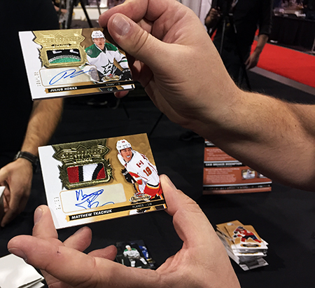 Upper-Deck-Sport-Card-Expo-Collector-Scores-Big-with-2017-18-NHL-Fleer-Showcase-Rookie-Autograph-Patch-Cards
