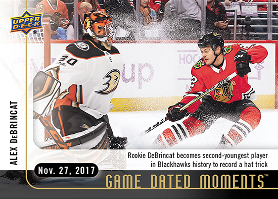 2017-18-Upper-Deck-NHL-Game-Dated-Moments-Alex-DeBrincat-Hat-Trick