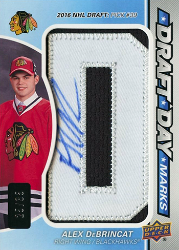 2017-18-Upper-Deck-NHL-SP-Game-Used-Rookie-Draft-Day-Autogrpah-Alex-DeBrincat