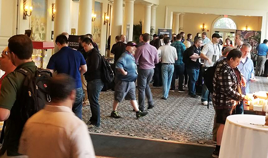 2018-Upper-Deck-Certified-Diamond-Dealer-Conference-Busy-Hallway