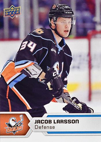 2017-18-Upper-Deck-AHL-Hockey-Trading-Cards-XRC-Jacob-Larsson-San-Diego-Gulls