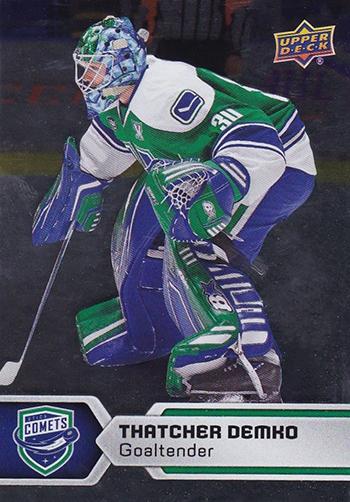 2017-18-Upper-Deck-AHL-Hockey-Trading-Cards-XRC-Silver-Thatcher-Demko-Utica-Comets