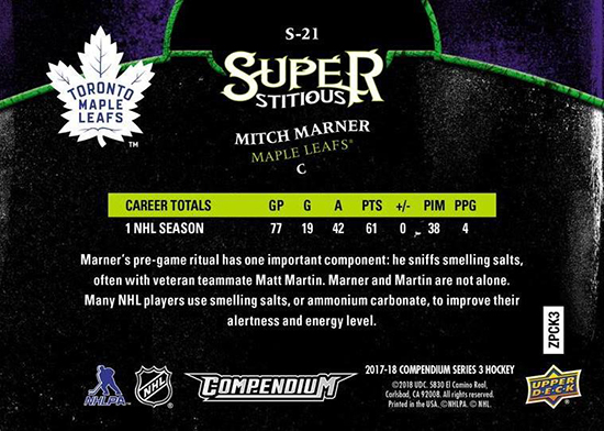 2017-18-Upper-Deck-Compendium-Superstitious-Stuperstition-S21-Mitch-Marner-Back