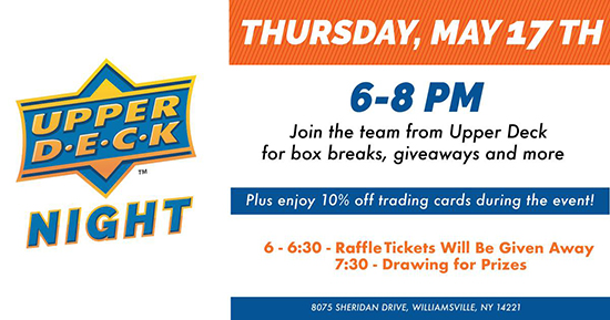 2018-Upper-Deck-Night-at-dave-adams-cardworld-williamsville-ny