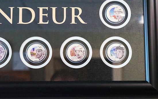 upper-deck-authenticated-grandeur-hockey-coins-display-framed-set