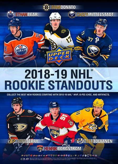 2018-Upper-Deck-Carryover-Rookie-Poster-Mittelstadt-Donato-Bear-Terry-Borgstrom-Tolvanen