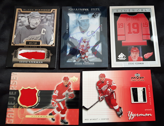 Upper-Deck-Steve-Yzerman-Featured-Collector-Cless-Howse-Rare-Detroit-Red-Wings-Inserts-Captain