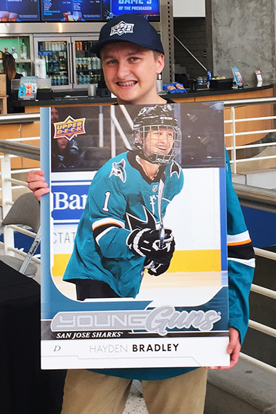 upper-deck-san-jose-sharks-hayden-bradley-young-guns-rookie-card-reveal-make-a-wish