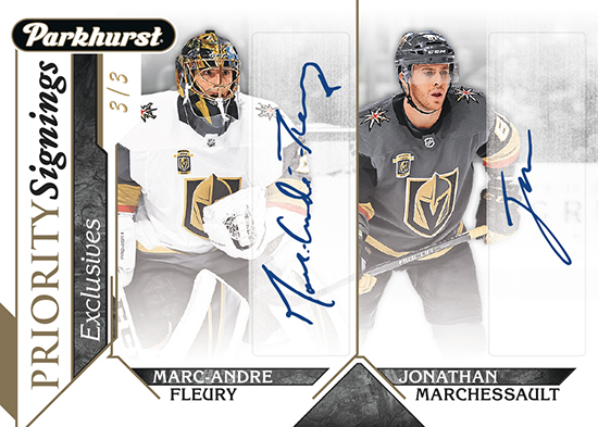 2018-upper-deck-fall-expo-parkhurst-exclusives-priority-signings-marc-andre-fleury-jonathan-marchessault