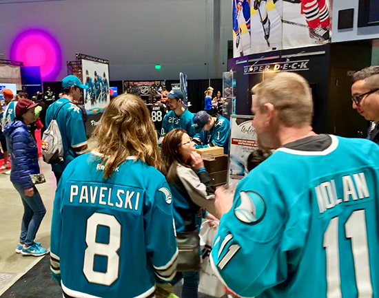2019-nhl-all-star-fan-fair-upper-deck-make-a-wish-sam-tageson-hayden-bradley-2