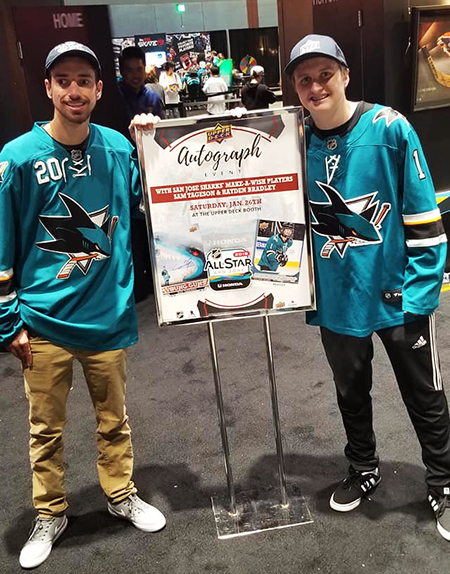 2019-nhl-all-star-fan-fair-upper-deck-make-a-wish-sam-tageson-hayden-bradley-6