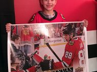 Meeting Patrick Kane Immortalized on an Upper Deck Hockey Card